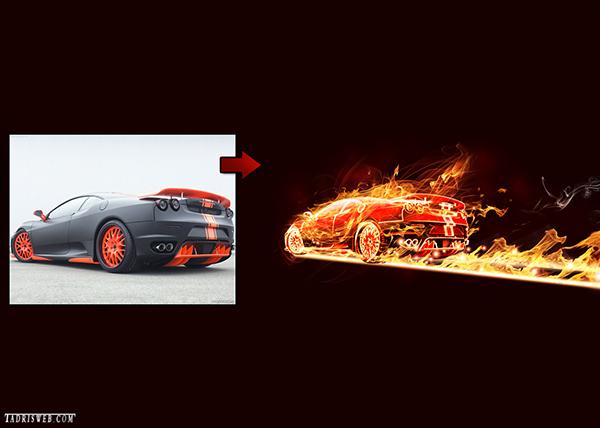 افکت ماشین شعله ور