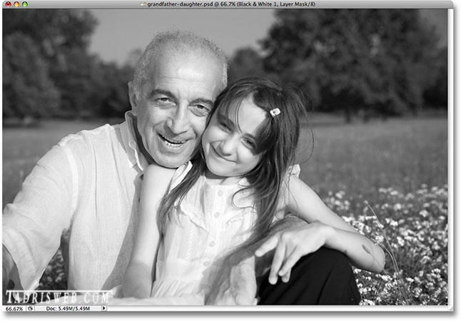 آموزش فتوشاپ روتوش عکس- سیاه و سفید کردن تصویر