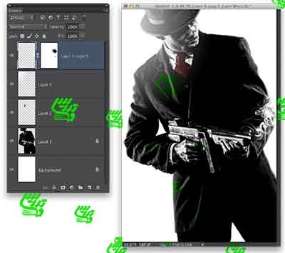 آموزش فتوشاپ ایجاد تصویر یک گنگستر