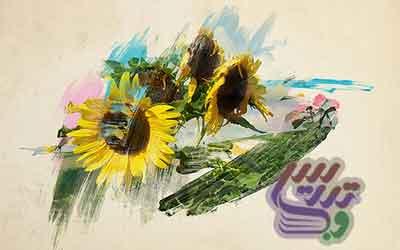 آموزش فتوشاپ نقاشی با براش آبرنگی روی تصویر